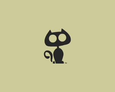 curious cat 35 Great Logos Inspired By Cats