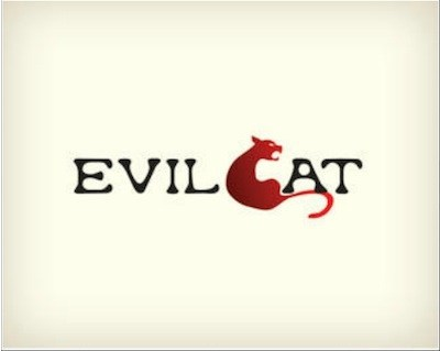 evil cat 35 Great Logos Inspired By Cats