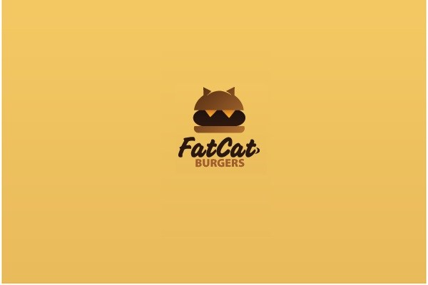 fat cat burgers 35 Great Logos Inspired By Cats