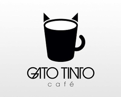 gato tinto cafe 35 Great Logos Inspired By Cats