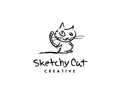 sketchy cat 35 Great Logos Inspired By Cats
