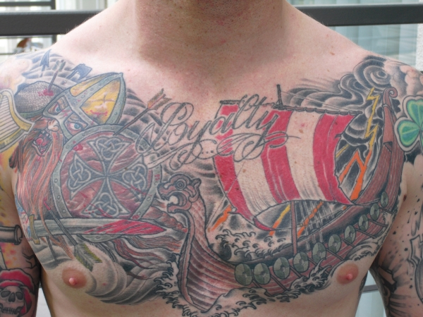 viking chestpiece tattoo 25 Awesome Celtic Knot Tattoos