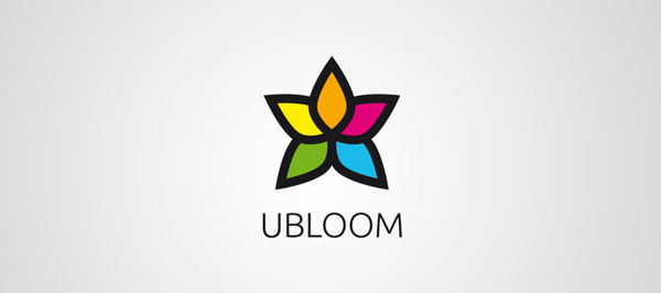 ubloom 25 Inspirational Multi Colored Logos