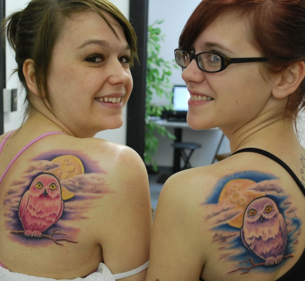 Matching Owls Tattoo