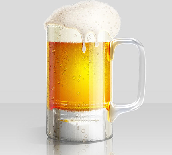 Cold Beer Glass Illustration