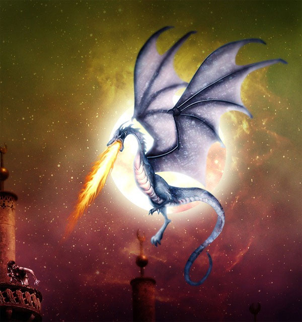 fantasy dragon 40 Cool Photoshop Tutorials You Cant Afford To Miss