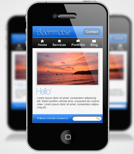 Design a Website Layout for a Mobile Device