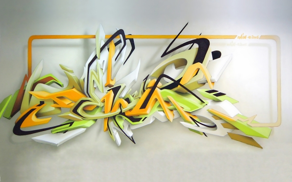 3d graffiti 30 Crazy Backgrounds You Should Check Today