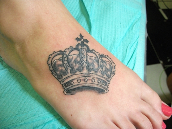 Foot Crown Tattoo