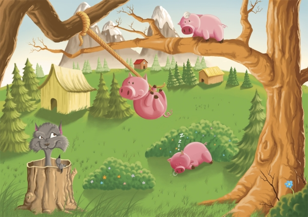 three little pigs 20 Cool Fairy Tale Characters