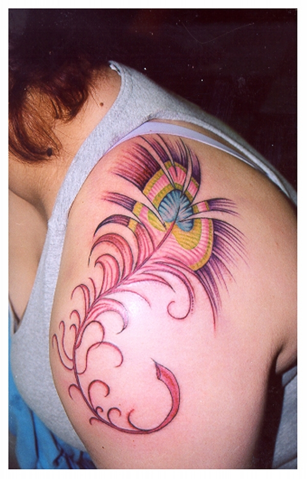 artistic feather 25 Adorable Feather Tattoos
