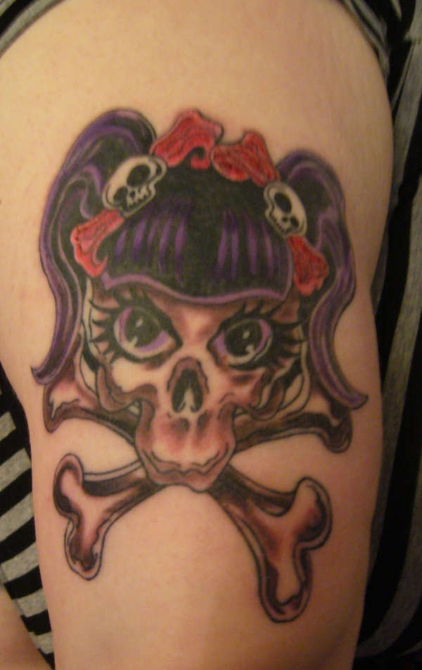 girly skull 20 Girly Tattoos You Would Simply Love