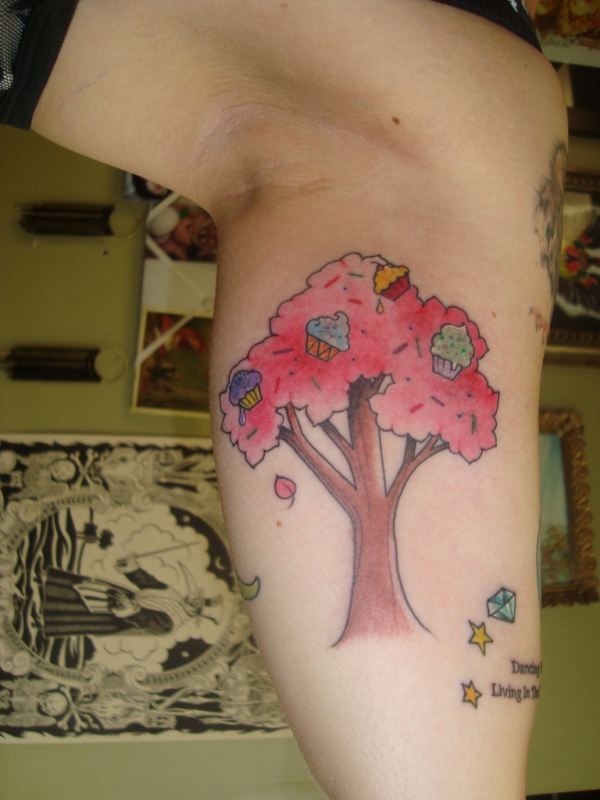 ice cream tree 20 Girly Tattoos You Would Simply Love
