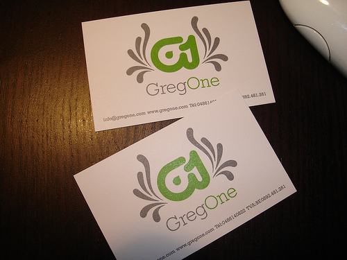 Greg One Business Card