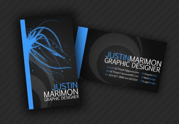 25 killer graphic design business cards slodive justin marimon business card reheart Choice Image