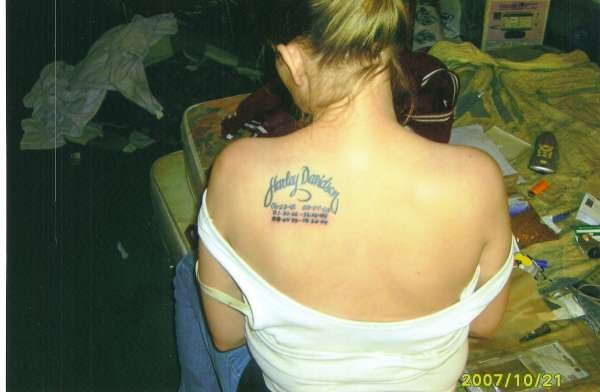 Harley Davidson Girl Tattoo