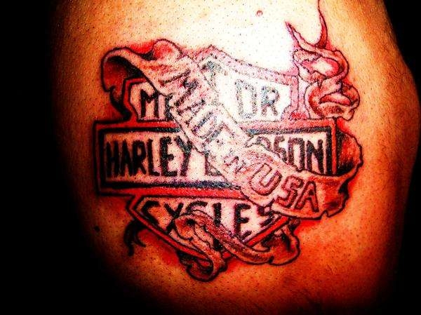 harley crap tattoo 35 Groovy Harley Davidson Tattoos