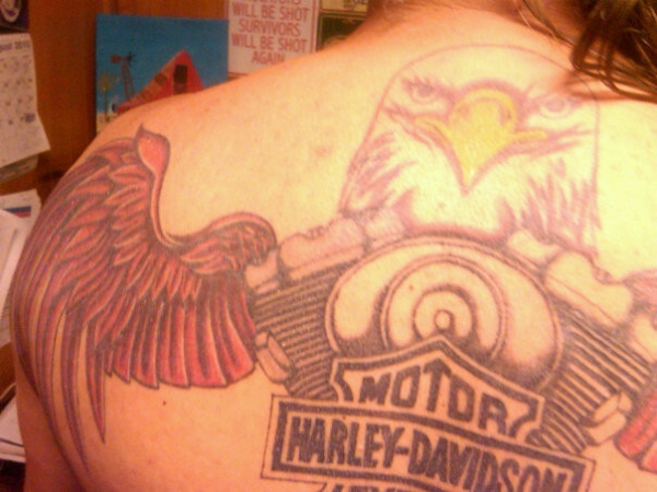 Harley Davidson Eagle Tattoo