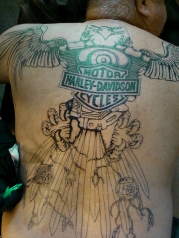 Harley Davidson Back Cover Up