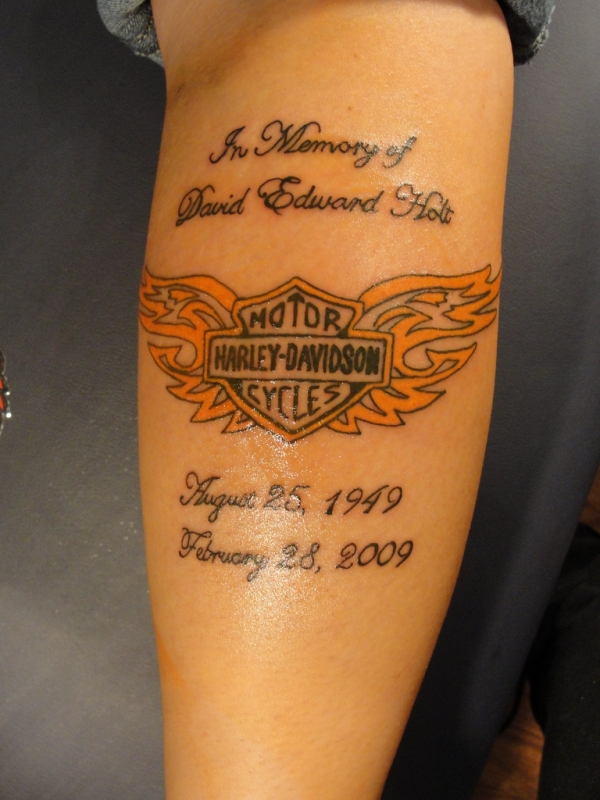 Harley Davidson Memorial Tattoo