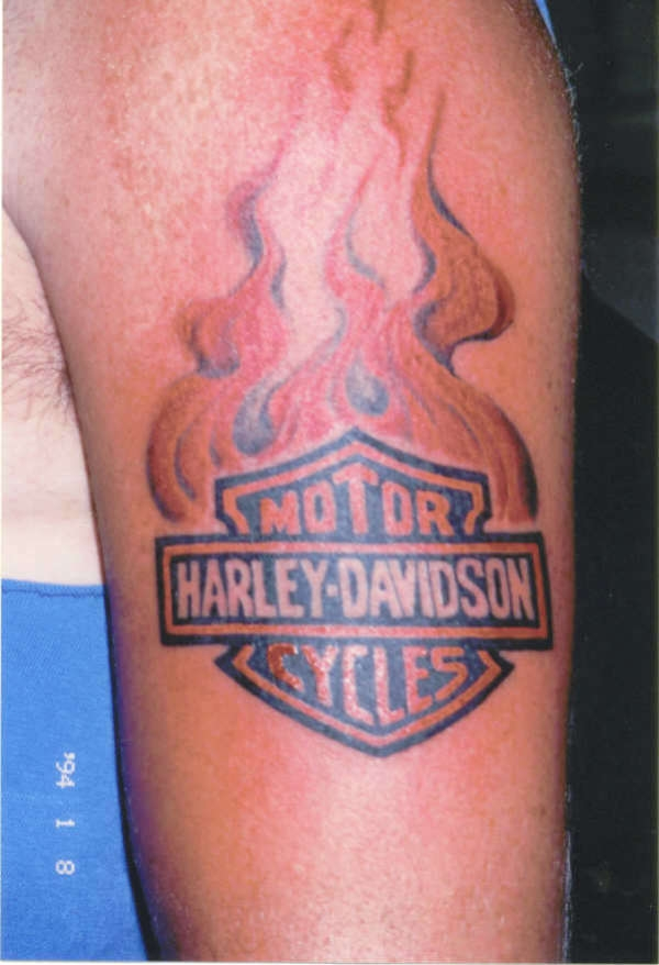 Harley Davidson Fire Tattoo