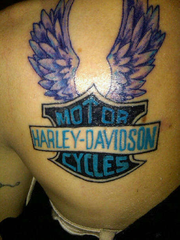 Harley Wings Tattoo