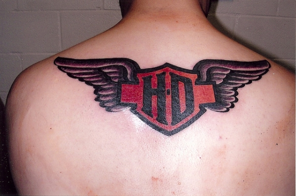Harley Davidson Full Back Tattoo