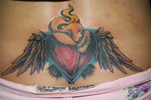Back Heart Wings