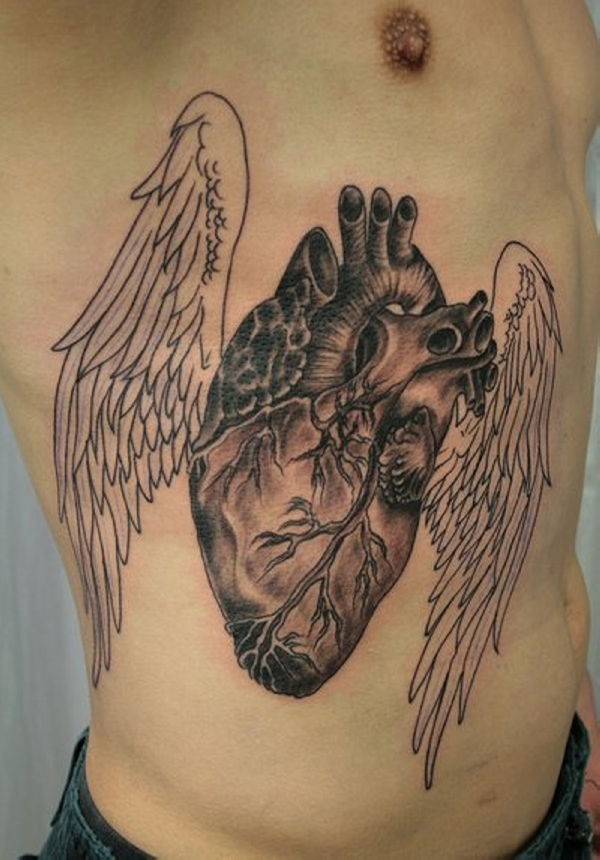 30 awe inspiring heart with wings tattoos slodive rh slodive com heart and wing tattoos heart wing tattoos meaning