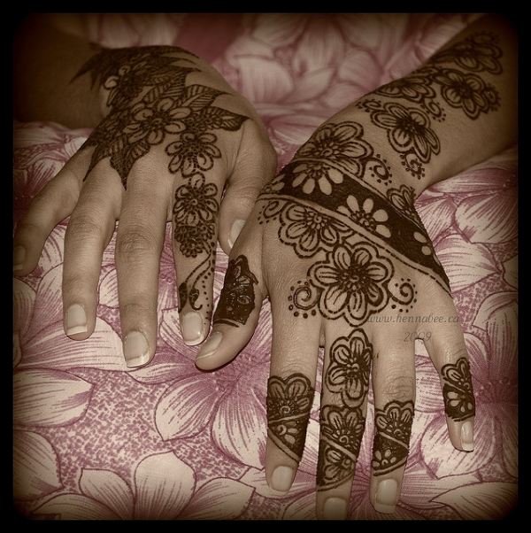 beautiful flower henna tattoo 25 Excellent Henna Tattoo Designs