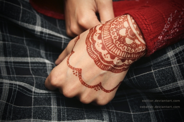 Henna Design For The Wrist