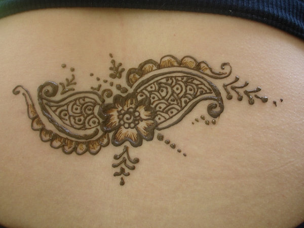 henna on lower back 25 Excellent Henna Tattoo Designs