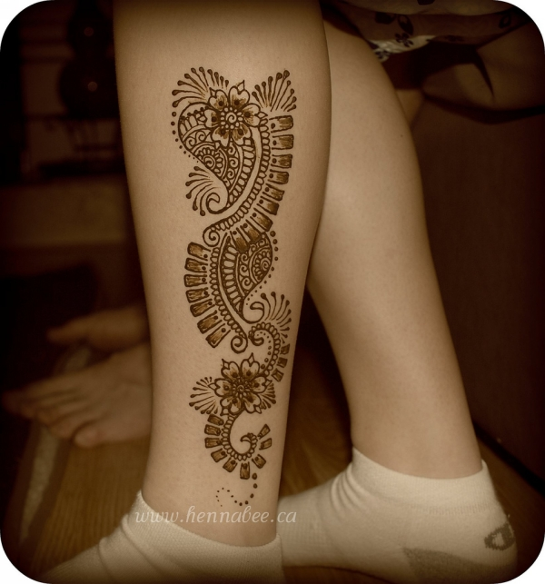 Tattoo Designs On Leg: 25 Excellent Henna Tattoo Designs