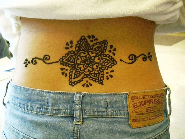 lower back henna tattoo 25 Excellent Henna Tattoo Designs