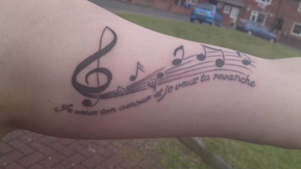 Bad Romance Lyrics Tattoo