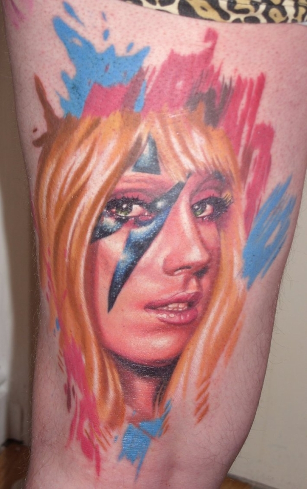 Color Lady gaga Tattoo