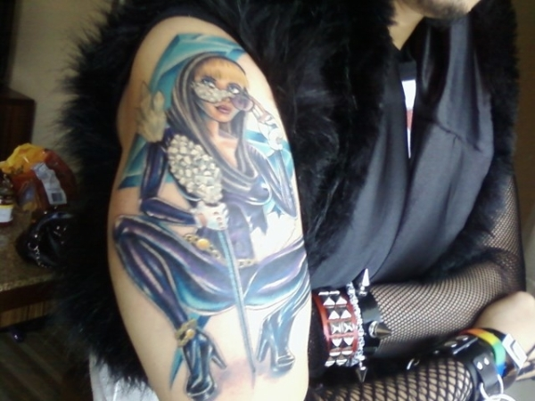 Show Off Lady Gaga Tattoo