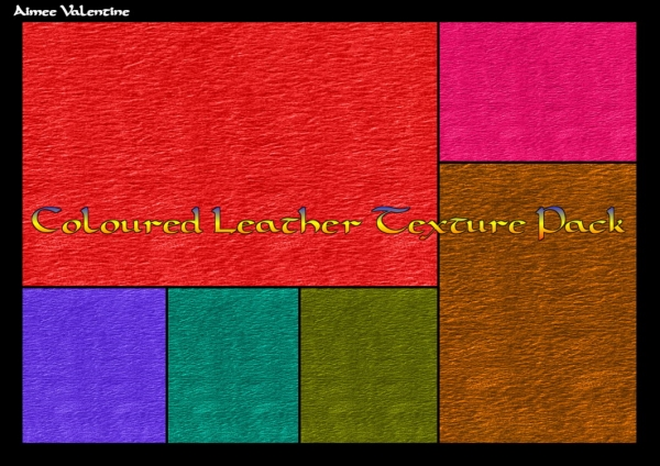 Colored Leather Texture Set