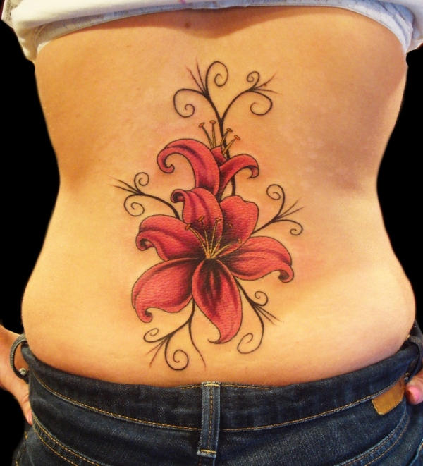Color Lilly Tattoo