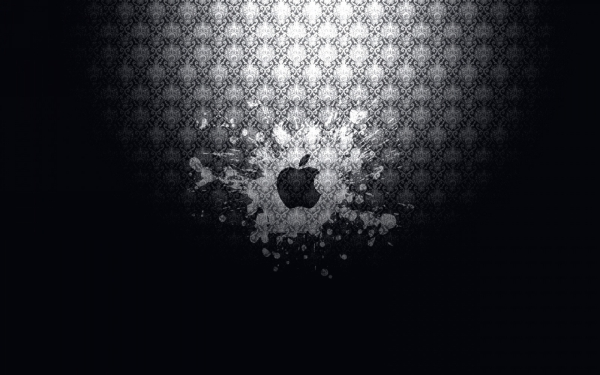 Explosive Apple wallpaper