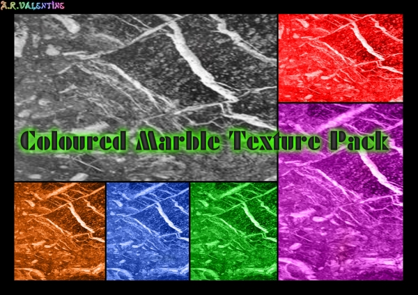 Colored Marble Texture Set Set