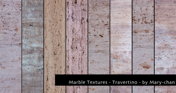 Travertino Marble Set