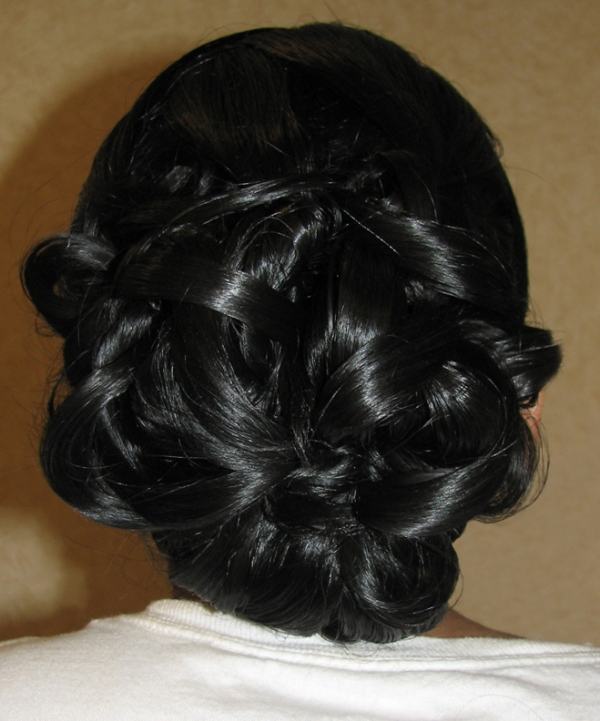 a formal bun 25 Cute Hairstyles For Medium Hair