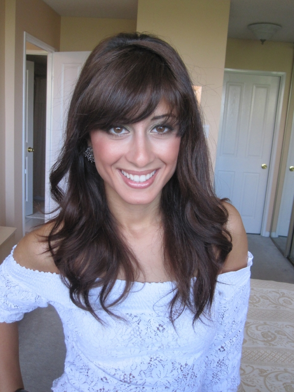elegant fringe hairstyle 25 Cute Hairstyles For Medium Hair