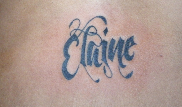 Elaine Name Tattoo