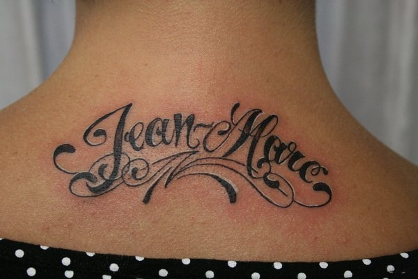 jean mare tattoo 30 Cool Name Tattoo Ideas
