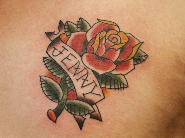 jenny rose tattoo 30 Cool Name Tattoo Ideas