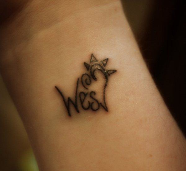 wes wrist tattoo 30 Cool Name Tattoo Ideas