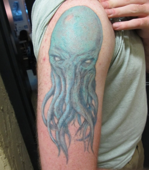 angry blue octopus 15 Amazing Octopus Tattoo Designs