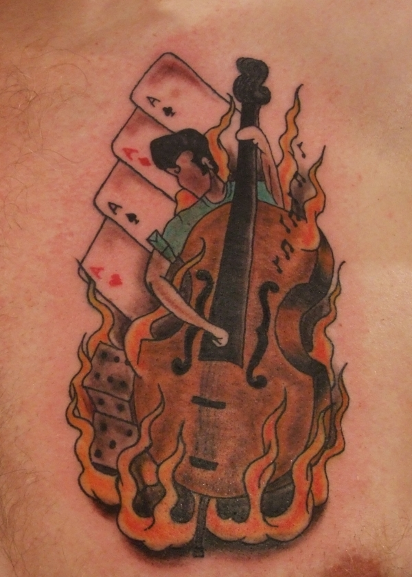 old school bass tattoo 25 Awesome Old School Tattoos